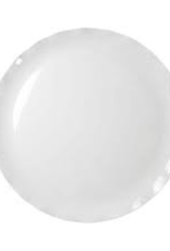 "THUNDER GROUP, INC RF1020W 20"" Melamine round Plate White (Black Pearl Line)"