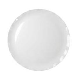 """THUNDER GROUP, INC 20"""" Melamine round Plate White (Black Pearl Line)"""