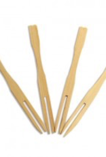 UNIQUE MAUFACTURING 03-UMC-BFP-FORK Unique 3.5'' Bamboo Fork Pick 100ct  200/case