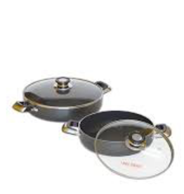 Ace Kitchenware Craft Inc KCL3014 ACE 14'' LOW POT Alum pot non stick coating