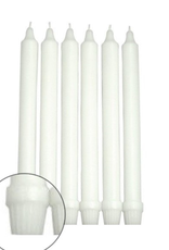 """GENERAL WAX & CANDLE General Wax 8"""" Formal Dinner White"""