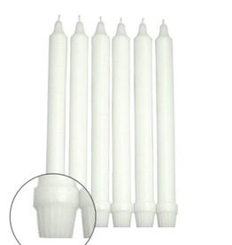 """GENERAL WAX & CANDLE 740802 General Wax 8"""" Formal Dinner White"""