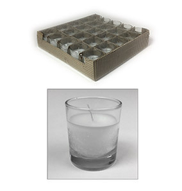GENERAL WAX & CANDLE 272602 General Wax Filled Clear Votive Candle (Clear Glass)