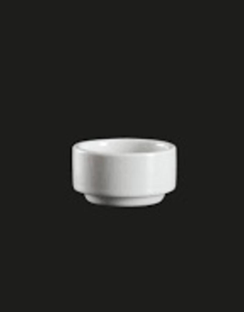 """UNIVERSAL ENTERPRISES, INC. 2"""" stackable  round dish 1.5 oz. 48/cs"""