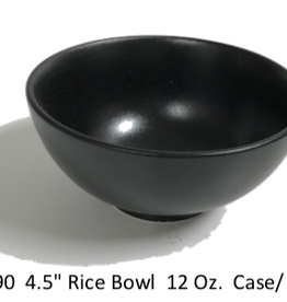 "UNIVERSAL ENTERPRISES, INC. 4.5"" round bowl 12 oz Black 24/cs"