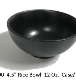 "UNIVERSAL ENTERPRISES, INC. BK-0090 4.5"" round bowl 12 oz Black 24/cs"
