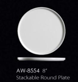"UNIVERSAL ENTERPRISES, INC. AW-8554 8"" Stackable Round Plate 24/cs"