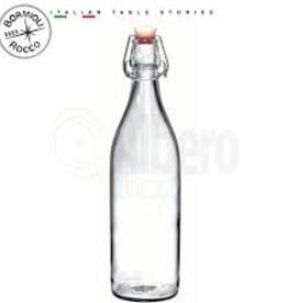 BORMIOLI ROCCO GLASS 666261 Bormioli clear Giara Bottle 0.5L 17oz  12/cs