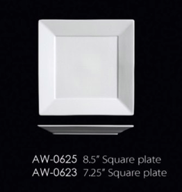 UNIVERSAL ENTERPRISES, INC. AW-0625 8.5'' Square Plate 24/cs