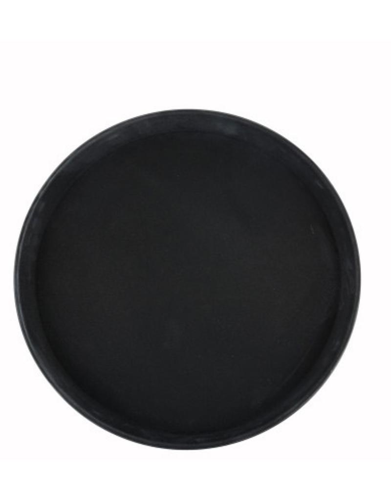 TRH-14K WINCO Non Skid / Slip Tray Round Black 14''