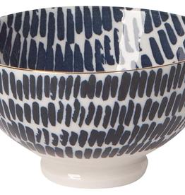 "NOW DESIGNS 5042017 Now design Bowl Stamped 4"" Shibori Dash"