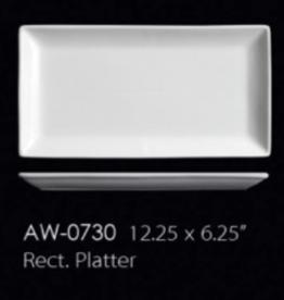 UNIVERSAL ENTERPRISES, INC. AW-0730 12.25 X 6.25'' Rectangular Platter 12/cs