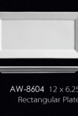 UNIVERSAL ENTERPRISES, INC. AW-8604 12 x 6.25'' Rectangular Platter 12/cs