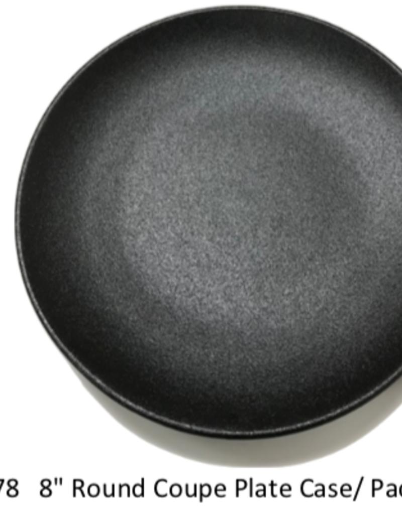 "UNIVERSAL ENTERPRISES, INC. BK-0078 8"" round Coupe Plate Black 24/cs"