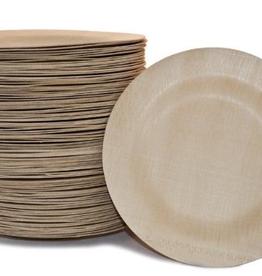 "Bambu 064620 speical order BAMBU 7"" Fancy Bamboo Round Wavy Plate pack of 8"