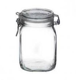 BORMIOLI ROCCO GLASS 149280 Bormioli Fido Jar 0.75L or 25.4 oz  w/ Clamp