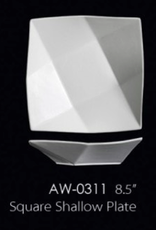 "UNIVERSAL ENTERPRISES, INC. 8.5"" Square Shallow Plate 16 Oz. 24/cs"