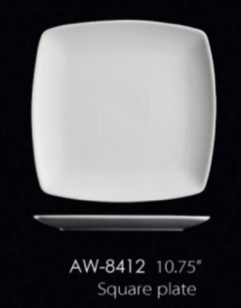 "UNIVERSAL ENTERPRISES, INC. AW-8412 10.75"" Square Plate 12/cs"
