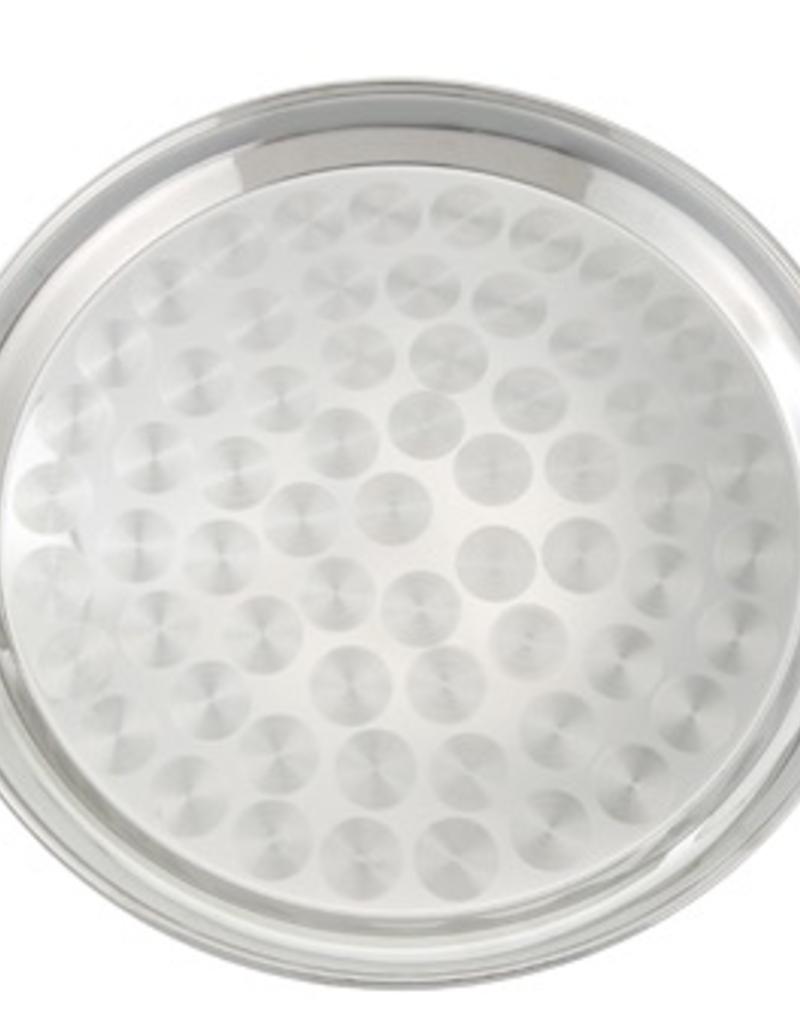 STRS-12 WInco 12'' serving tray swirl, round
