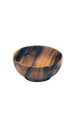 "PACIFIC MERCHANTS K0420 PM  Wooden Round Bowl 4.5x2"""