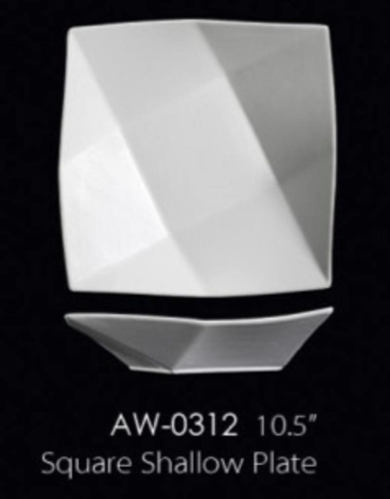 UNIVERSAL ENTERPRISES, INC. AW-0312 10.5'' Square Shallow Plate 12/cs
