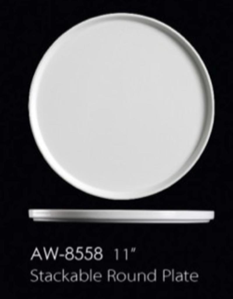 "UNIVERSAL ENTERPRISES, INC. AW-8558 11"" Stackable Round Plate 12/cs"