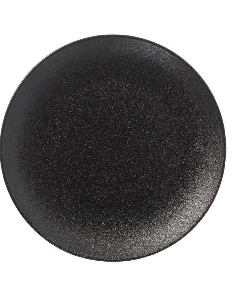UNIVERSAL ENTERPRISES, INC. BK-0080 10'' Black Round Coupe Black Plate 12/cs
