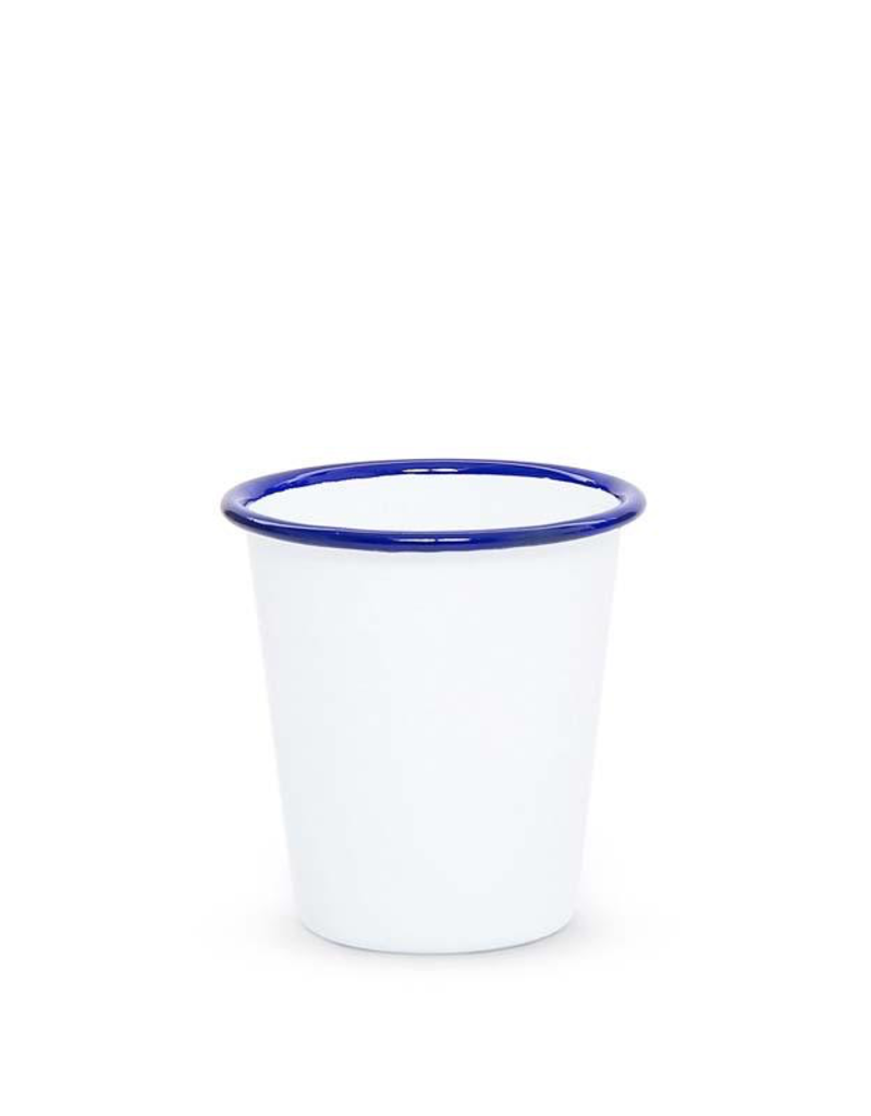 CGS INT. Tumbler 14 oz Solid White w/ Blue Rim