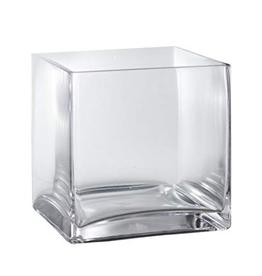 "85643 6""H x 6"" Glass Cube Vase"