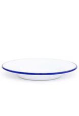 CGS INT. V19BLU Salad 7.5 Plate Solid White w/ Blue Rim