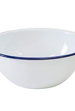 CGS INT. V17BLU Cereal Bowl Solid White w/ Blue Rim