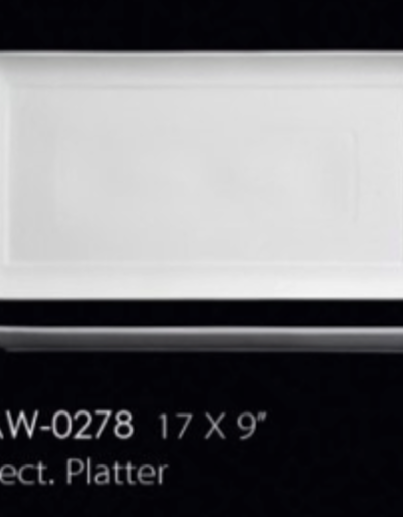 UNIVERSAL ENTERPRISES, INC. AW-0278 17 X 9'' Rectangular Platter 8/cs
