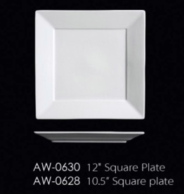 UNIVERSAL ENTERPRISES, INC. AW-0630 12'' Square Plate 8/cs white