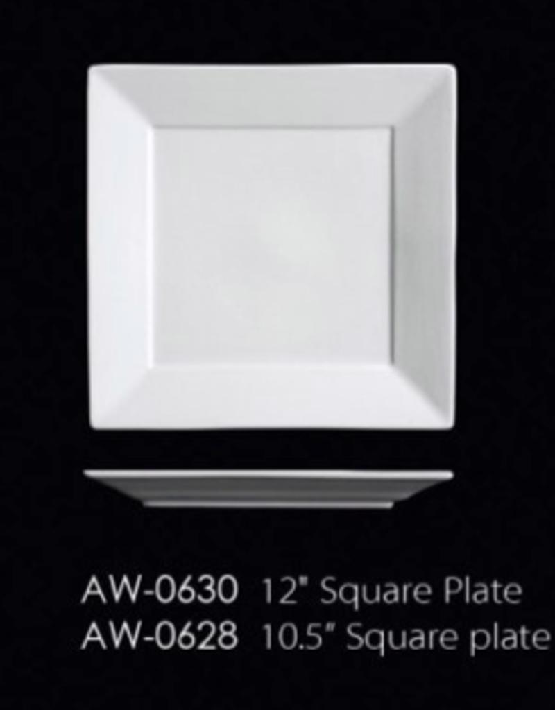 UNIVERSAL ENTERPRISES, INC. AW-0630 12'' Square Plate 8/cs white