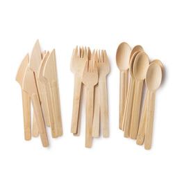 "Bambu 061400 BAMBU 6.5"" Knife, Fork Spoon pack of 24"