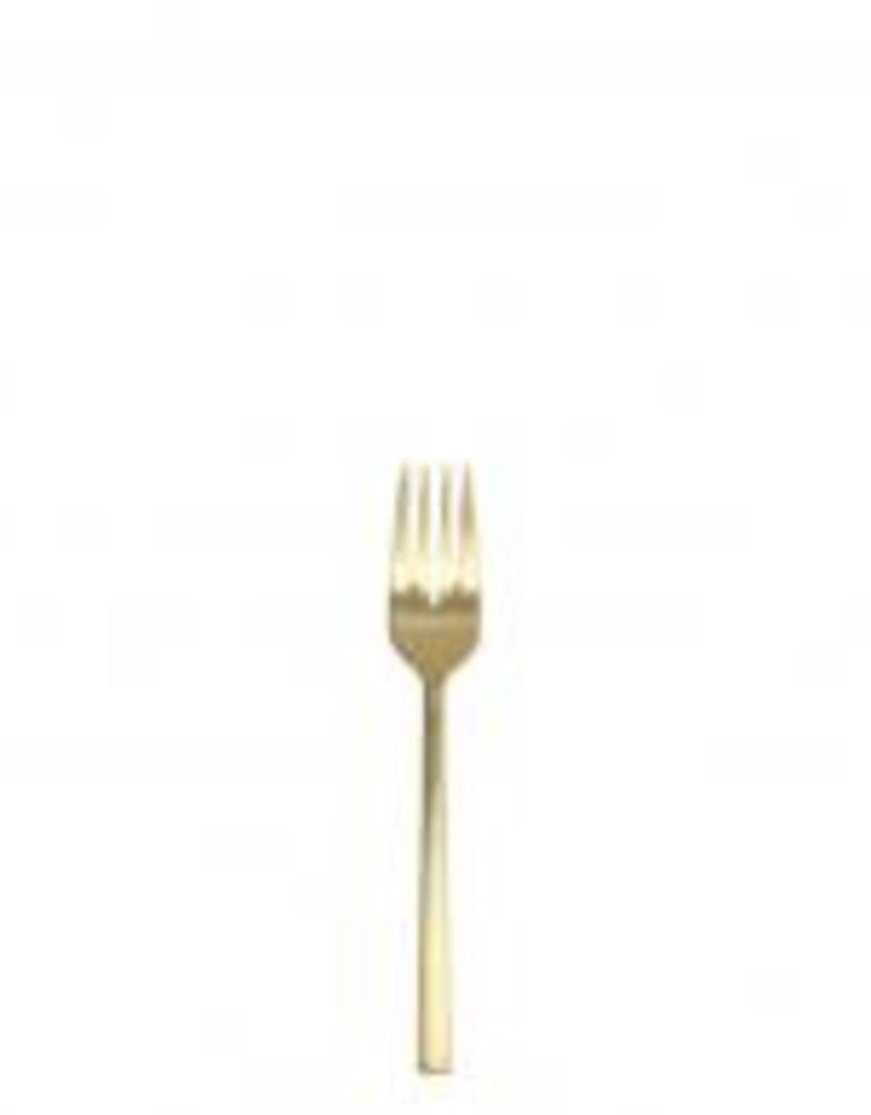 "FORTESSA Arezzo Brushed Gold Salad Fork 7"""