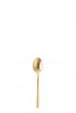 """FORTESSA Arezzo Brushed Gold Demi/Espresso Spoon 5.1"""""""