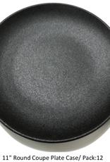 "UNIVERSAL ENTERPRISES, INC. BK-0082 11"" round Coupe Plate Black 12/cs"