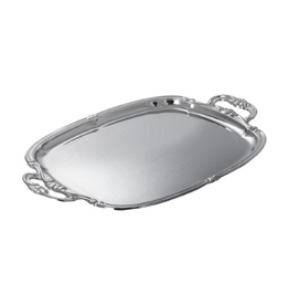 Winco Oblong Chrome Tray W/ Intergrated Hd