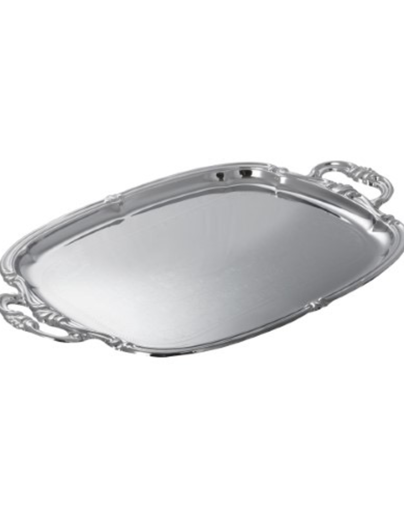 CMT-1912 Winco Oblong Chrome Tray W/ Intergrated Hd
