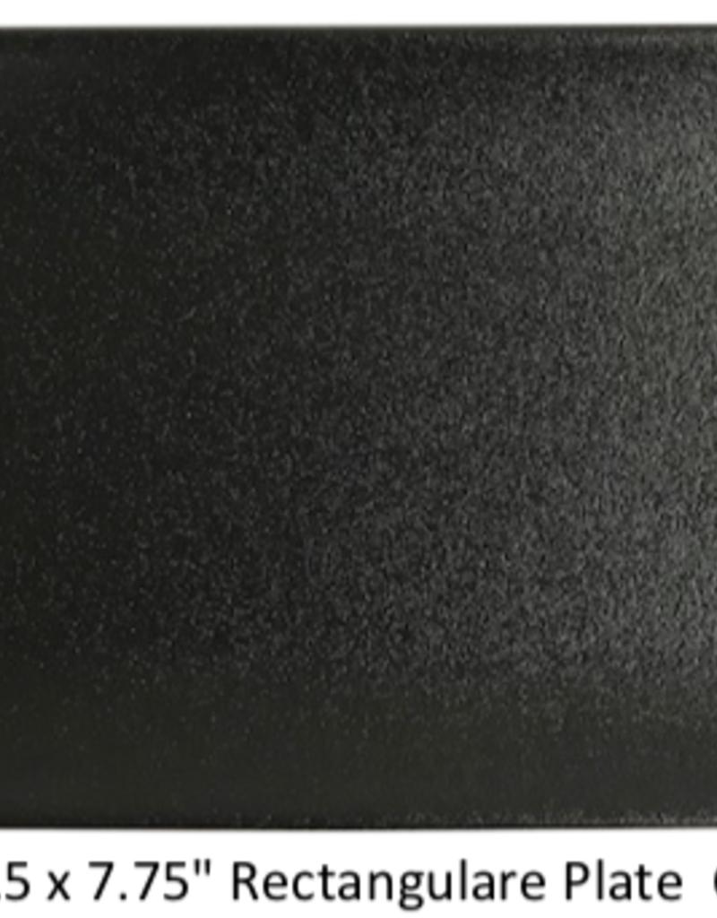 "UNIVERSAL ENTERPRISES, INC. BK-0052 13.5 x 7.75"" Rectangular Platter Black"