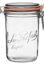 Down to Earth Dist. 911065 Le Parfait Terrine Glass Jar 1000G 36 oz. clamp