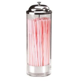 PRODYNE ENTERPRISES PRODYNE ENTERPRISES Old Fashion Straw Dispenser 36 Straws Glass Body with Metal Lid