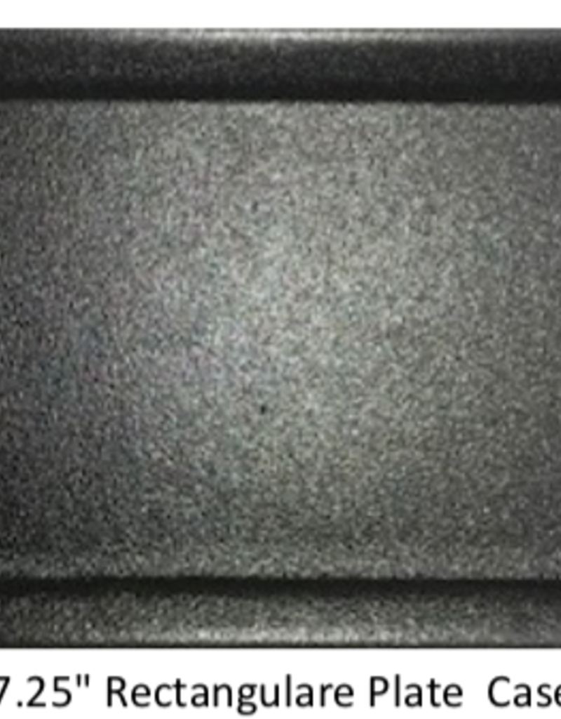 "UNIVERSAL ENTERPRISES, INC. BK-0036 14 x 7.25"" Rectangular Plate Black 12/cs"