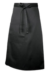 Chef Works F24BLK0 Chef Works Bistro Apron Black 65% Poly/35% Cotton