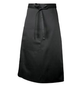 Chef Works F24BLK0 Chef Works Bistro Apron Black 65% Poly/35% Cotton