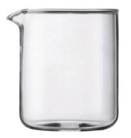 BODUM 1504-10US BODUM SPARE BREAKER SPARE GLASS, 4 CUP, 0.5L 17 OZ. 9.6 CM DIA 12.5 CM H