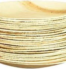 """Leafware 6"""" Disposable Palm Leaf Round Plates 25ct"""