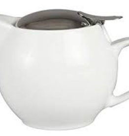 BEE HOUSE Bee House Round TeaPot Stainless Steel White