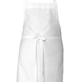 Chef Works F8WHT0 Chef Works Butcher Apron White 65% Poly/35% Cotton